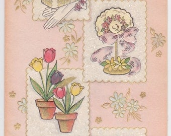 1950s vintage Easter card -- A Happy Easter, Mother