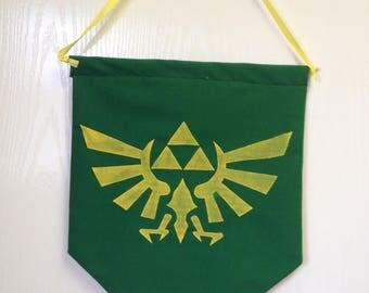 Legend of Zelda Banner Hyrule Symbol Sign