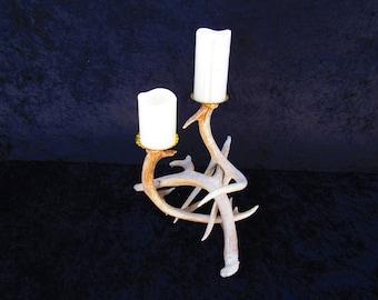 2 Candle Holder Deer Antlers
