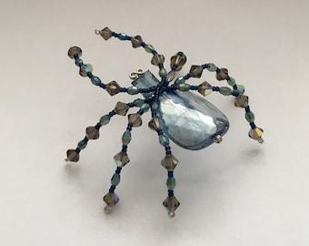 Beaded Spider - Midnight Blue