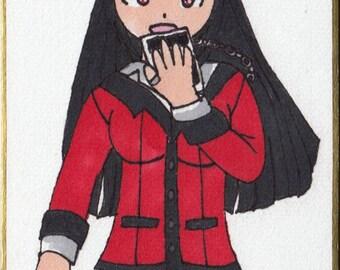 Kakegurui: Yumeko Jabami Hand Drawn Shikishi Board