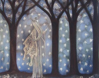 Moonlight Goddess Original Painting