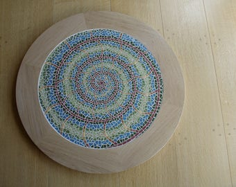 Mosaic Fossil lazy susan turntable