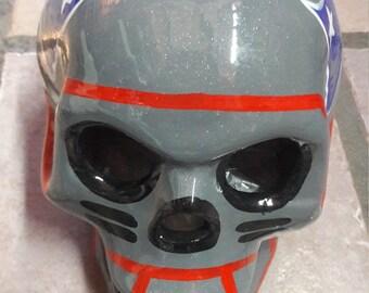 NFL Patriots Skull Free Shipping