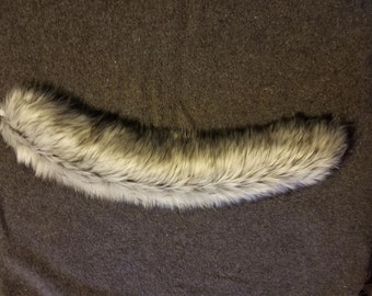 Black and White Wolf/Fox Tail