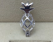 925 Sterling Silver Pineapple Style cage Pendant
