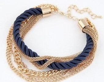 Bracelet chains braided