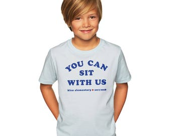 You Can Sit With Us Kiva : Kid's Unisex Soft Blend T-Shirt