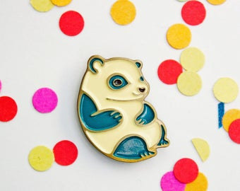 PANDA enamel pin, panda pin, enamel panda brooch, panda lapel pin, panda bear pin, enamel animal pins, cute animal pins, cute animal jewelry