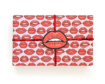 Red Lips Gift Wrap