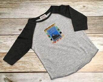 "Toddler Boy ""I Love Big Dumps"" Baseball T-shirt-Toddler Girl Gift"