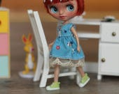 RESERVED for Jessica O. - OOAK petite custom Blythe doll by crafting with loove