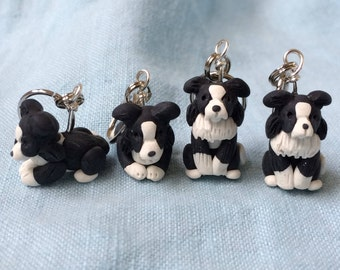 Border Collie Stitch Markers (set of 4)