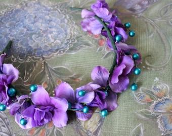 Faerie Ring Flower Crown - Wreath - Tiara - Headband - Costume - Wedding - Bridal - Prom