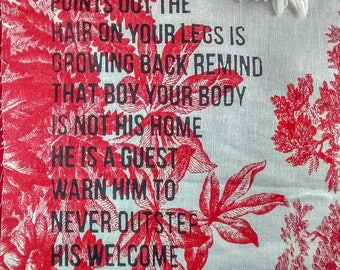 rupi kaur your body is not his home fabric print