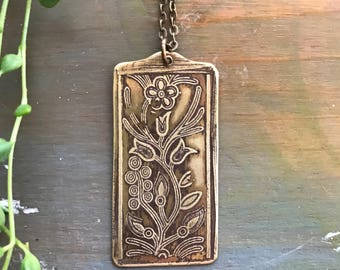VINE // Etched Brass Necklace