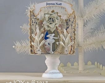 CHRISTMAS BALLERINA -diorama - shadowbox - vignette - decoration - NO083