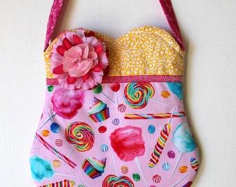 Cotton Candy Lollipop Purse, girls purse, toddler purse, spring purse, girlie purse