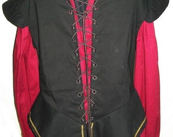 Sleeveless Black Fitted Doublet Cotton-