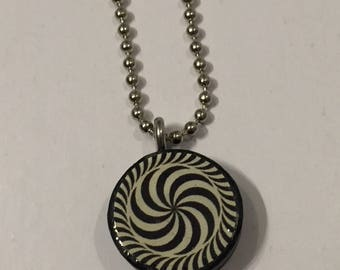 Hypnotic Swirl recycled cork pendant
