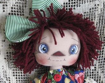 Primitive Raggedy Ann Gingerbread Annie