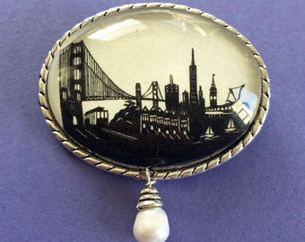 SAN FRANCISCO Brooch - Silhouette Jewelry