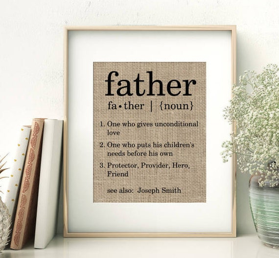 Definition Of Father Personalized Father's Day Gift From