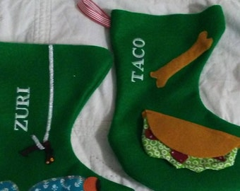 Personalized Felt Xmas Stockings