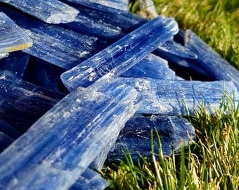 Blue Stripe Kyanite Raw Gemmy Crystal Blades