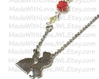 Beauty and the Beast Inspired Wire Wrapped Rose Vine Necklace