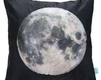 Moon Pillow, Moon Cushion, Space Theme Kids, Moon Decorative Pillow, Pillow Cover Moon, Kids Moon Pillow, Kids Space Bedding, Space Boy Room