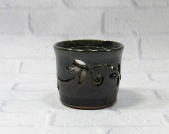 Votive Candle Holder - Pencil Holder - Ceramic Pencil Holder - Pottery Sponge Holder - Candle Holder - Flower Vase - Kitchen accessory