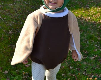 PRE-ORDER mallard duck halloween costume sizes NB through 5T, extended sizes available as custom order