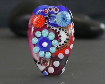 "Handmade lampwork bead focal  |  ""On The Road"" 