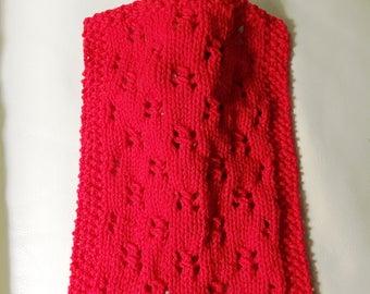 "pdf Knitting Pattern for ""Birthday Doll Blanket"" -- PATTERN -- Doll Size Small Tiny Fashion Doll Throw Afghan"
