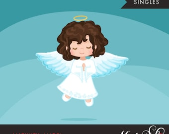 Nativity Angel Clipart. Christmas angel Brunette, holiday, illustration, graphic, cute, character, religious, christian, holy, bible