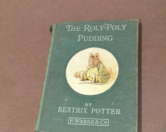 The Roly-Poly Pudding Beatrix Potter Frederick Warne 1936 vintage childrens book . bedtime story . antique book Tabitha Twitchit Tom Kitten