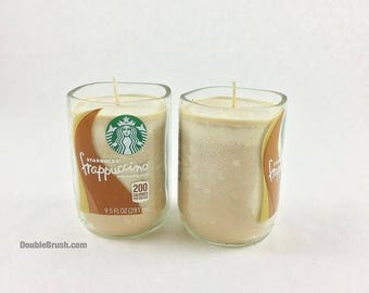 SALE 20% OFF OOAK One of a Kind 2 Handmade Coffee Scented Soy Candles Coffee Birthday Gift Starbucks Coffee Gift Set of Two Candles