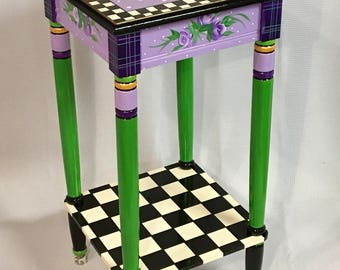 Whimsical Painted Furniture, Whimsical Painted Table // Whimsical Painted  Furniture // Custom Painted