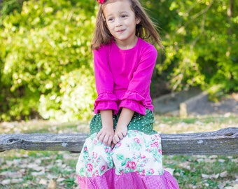 Girl's Maxi skirt - Maxi skirt - Toddler maxi skirt - Girls long skirt - boho maxi - boho skirt - bohemian skirt - hippie skirt- girls skirt