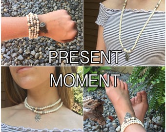PRESENT MOMENT - DIY Gemstone Mala Beads Kit - String Your Own Mala Beads