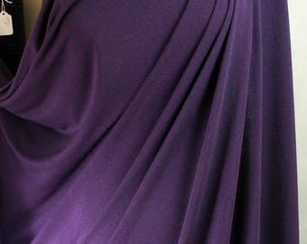 C386 Soft Drapey Rayon Jersey Fabric from Belgium in Deep Purple or Plum 60 inches wide BY THE YARD