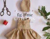 Little Fig Clothing Set by Fig and Me, Waldorf doll clothing, sewing pattern.