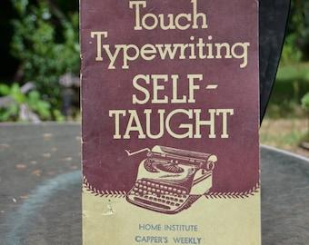 """Vintage 1941 Typewriter """"Touch Typewriting"""" Book"""