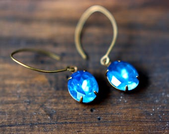 Blue Vintage Jewel Earrings - Sea