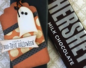 KIT Ghostly Halloween Candy Bar Wrap and Tag / Hershey Candy Bar / Party / Teacher Appreciation / Game Prize / Classroom Treat