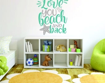 Beach Wall Decor beach wall decal | etsy