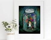Garden in a jar (Alice in Wonderland) - Deluxe Edition Print