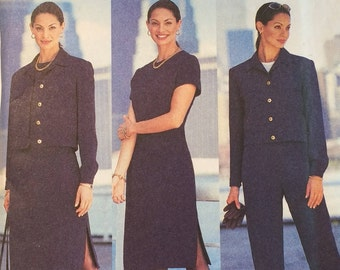 David Warren Designs Butterick 3307 Misses Loose Fitting Business Jacket Dress and Pants  Misses Plus Size 14 16 18