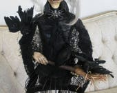 Sweet Old Witch - OOAK Sculpture by Lori Gutierrez